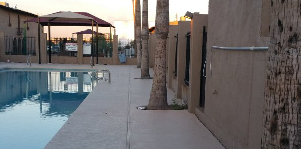 Hill N' Dell Apartments - Epoxy paint pool deck