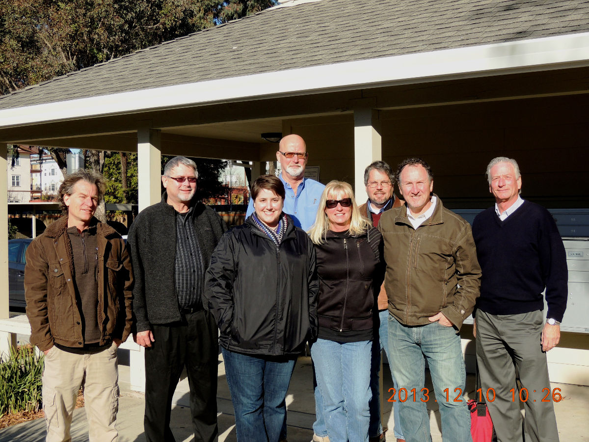 Jon Opfell, Tom Dawson, and others at Bell Manor Apartments