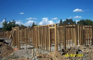 Wood framing at Sunnyslope Apartments